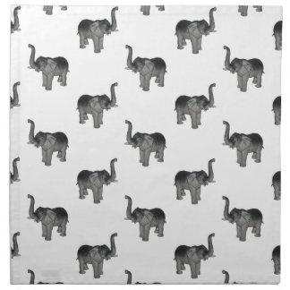 Little Gray Elephant Pattern Napkin