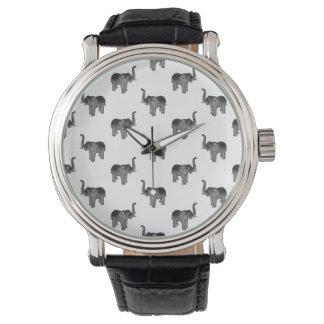 Little Gray Elephant Pattern Wrist Watch
