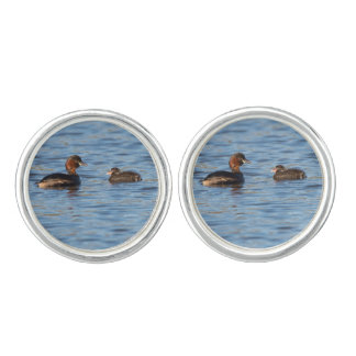 Little Grebe and Chick Cuff Links