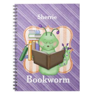 Little Green Bookworm Spiral Notebook
