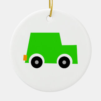 Little Green Car Christmas Ornament