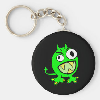 Little Green Devil Basic Round Button Key Ring