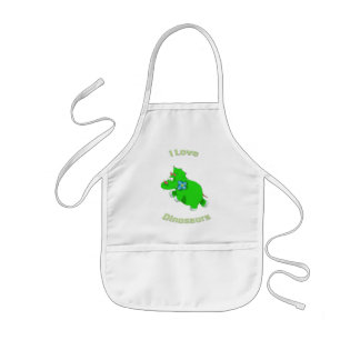 little green dino i loce dinosaurs aprons