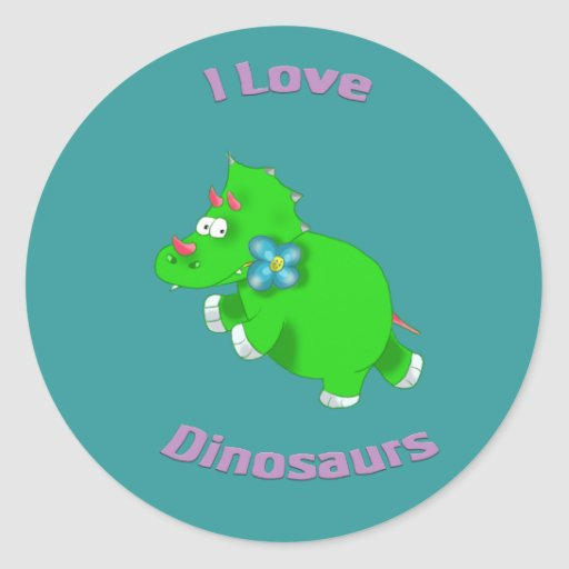 little green dinosaur ( i love dinosaurs) sticker