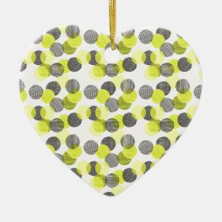 Little Green Dots Christmas Ornament