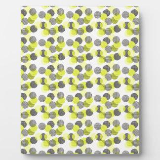 Little Green Dots Plaque