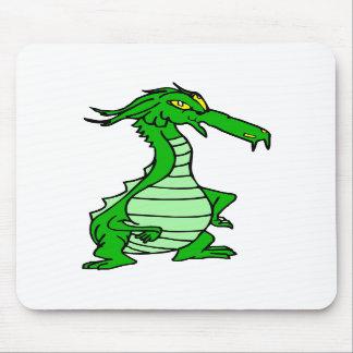 little green dragon mousepad