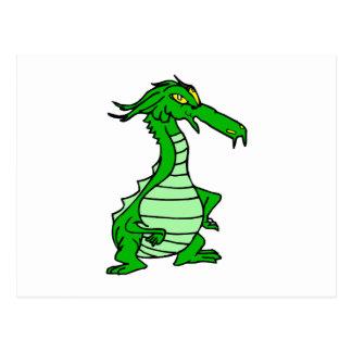 little green dragon postcard