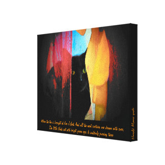 Little Green eyed...Harold Monro quote Gallery Wrap Canvas