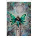 Little Green Fae Gothic Fairy Fantasy Art Greeting Card