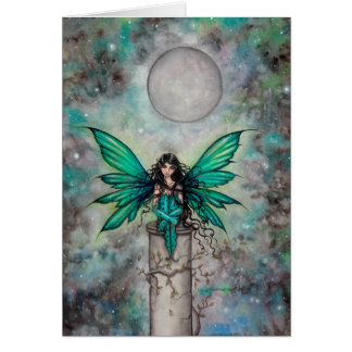 Little Green Fae Gothic Fairy Fantasy Art Card