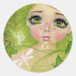 Little green fairy stickers