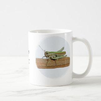 Little Green Grasshopper Cartoon Tea Coffee Cup Basic White Mug