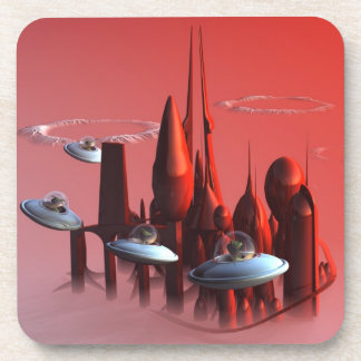 Little Green Invaders Coasters