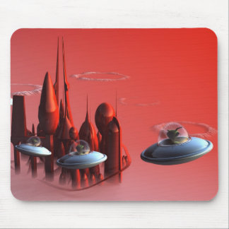 Little Green Invaders Mousepad