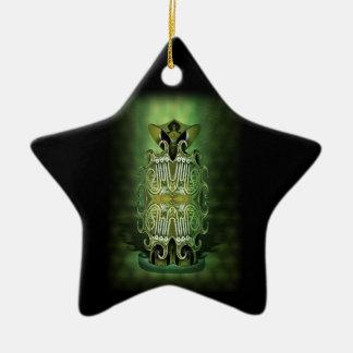 Little Green Man Ceramic Star Decoration