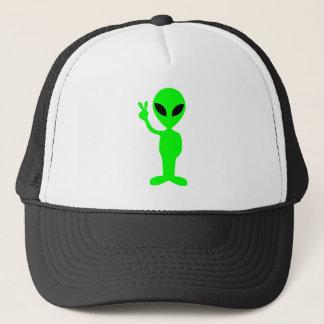 Little Green Man Trucker Hat