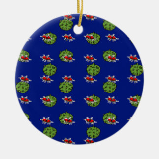 little green men and little green planets christmas ornament