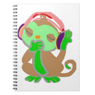 Little green monkey notebooks