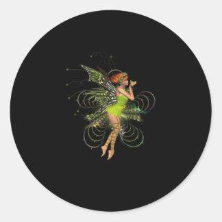 Little Green Pixie Classic Round Sticker