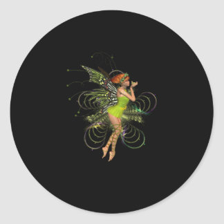 Little Green Pixie Round Sticker