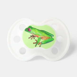 Little green tree frog baby pacifiers