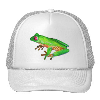Little green tree frog trucker hat