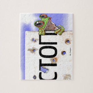 Little Green Tree Frog Jigsaw Puzzle