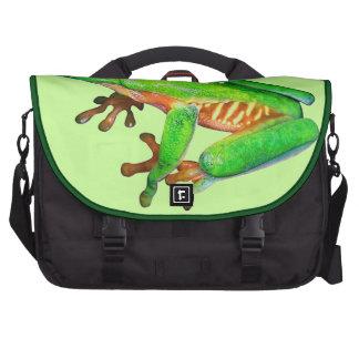 Little green tree frog laptop messenger bag
