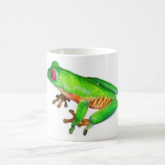 Little green tree frog basic white mug