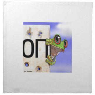 Little Green Tree Frog Napkin