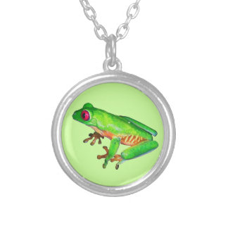 Little green tree frog necklace