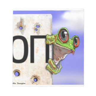 Little Green Tree Frog Notepad