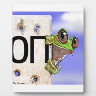 Little Green Tree Frog Plaque