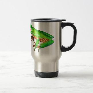 Little green tree frog stainless steel travel mug