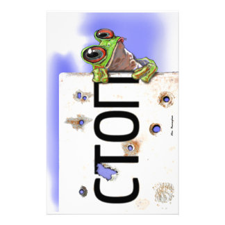 Little Green Tree Frog Stationery