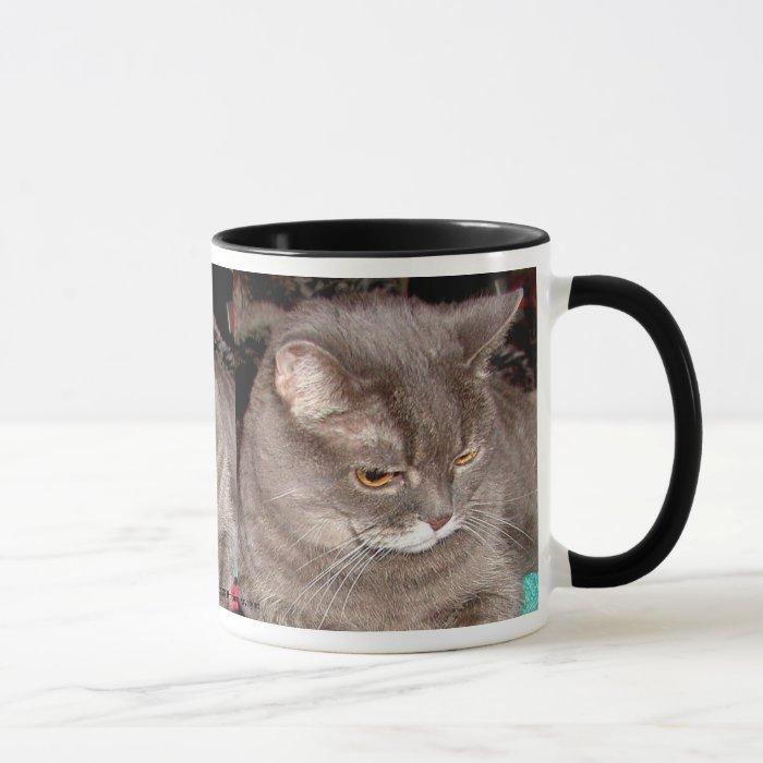 LITTLE GREY CAT MUG
