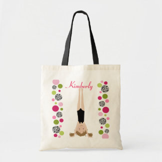 Little Gymnast in Pink and Green Tote Bags