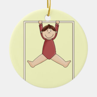 Little Gymnast on High Bar Christmas Ornament
