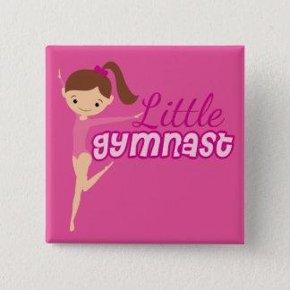 Little Gymnast (pink) 15 Cm Square Badge