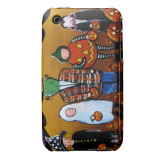 Little Halloween Kids Folk Art iPhone Case