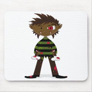 Little Halloween Werewolf Mousepad