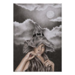 Little Halloween Witch Poster