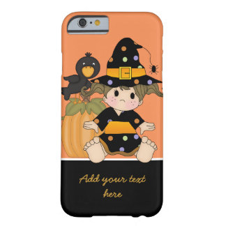 Little Halloween witch with orange black dress Barely There iPhone 6 Case