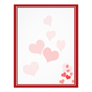 Little Hearts (Add Your Text & Background Color) 21.5 Cm X 28 Cm Flyer