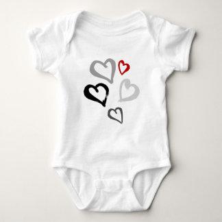 Little hearts baby bodysuit