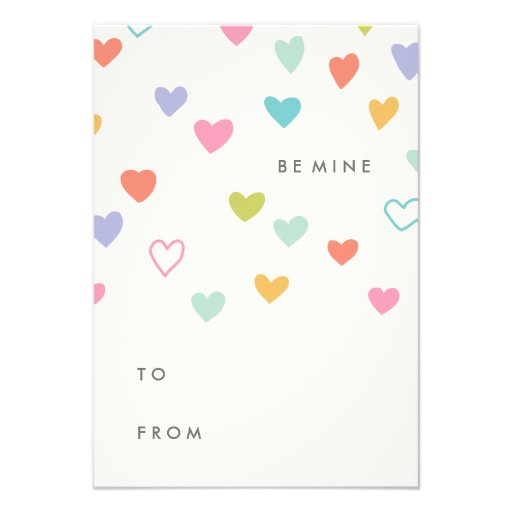 Little Hearts Classroom Valentine's Day Card