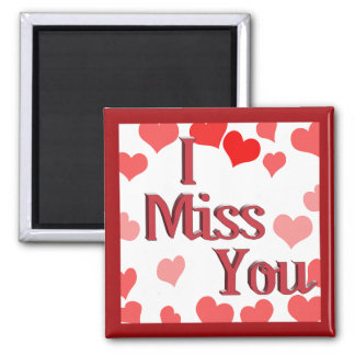 Little Hearts -  I Miss You Fridge Magnet