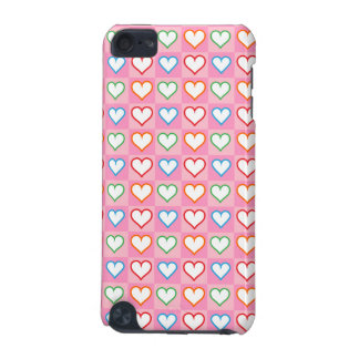 Little hearts on pink iPod touch (5th generation) case