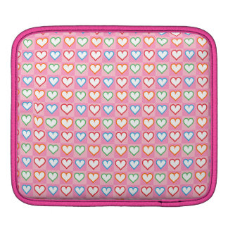 Little hearts on pink sleeve for iPads